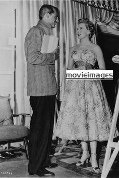 Deborah Kerr and Cary Grant behind camera…