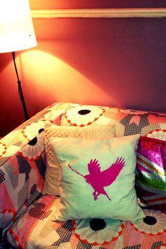 Screen printed cushion