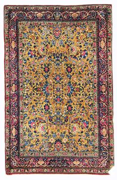 Other Antique Formal Rugs Gallery: Antique Kerman Rug, Hand-knotted in Persia; size: 3 feet 0 inch(es) x 4 feet 5 inch(es)
