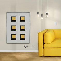 Color Field Painting Geometric Art Print Hard Edge Painting image 2 Art Wall Kids, Large Wall Art, Hard Edge Painting, Yellow Art, Office Wall Art, Modern Colors, Bird Prints, Geometric Art, Printable Wall Art