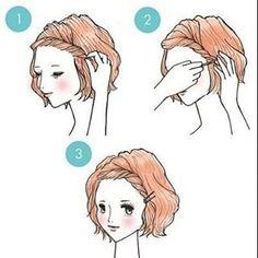 Drible problemas na franja dando um torcidinha e prendendo ela de lado com grampos. | 22 penteados simples para quando você não sabe o que fazer com seu cabelo