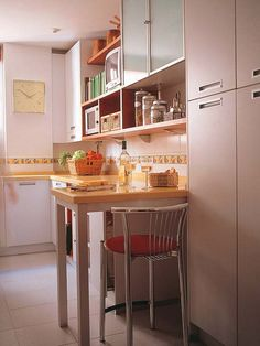 Cute little breakfast nook for small kitchen space