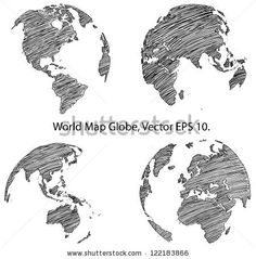 Earth globe with world map detail vector line sketch up illustrator stock vector earth globe with world map detail vector line sketched up illustrator eps 122183866g 450457 pixels gumiabroncs Gallery