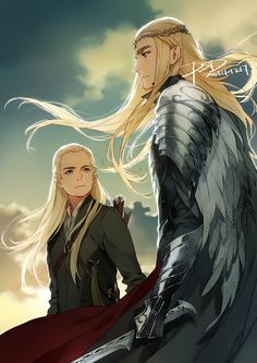 "Thranduil and Legolas from ""The Hobbit"" - Art by PSD"