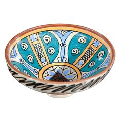 Moroccan Antique Ceramic Bowl | From a unique collection of antique and modern bowls at https://www.1stdibs.com/furniture/dining-entertaining/bowls/