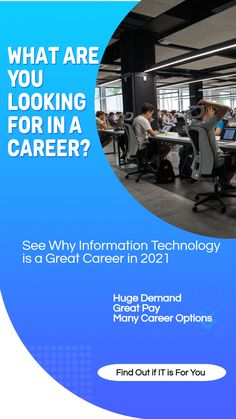With all of the new jobs being created in the IT industry, the demand for certified professionals in this field is higher than ever. In this article, you'll discover what job opportunities are out there for you and why an IT career is a great career in 2021. Interview Techniques, Job Hunting Tips, Career Help, Career Options, Best Careers, Resume Tips, Private Sector, Marketing Jobs, Information Technology
