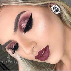 Trendy makeup looks red lips mac eyeshadow 59 Ideas Trendy Make-up sieht rote Lippen Mac Lidsc Glam Makeup Look, Cute Makeup, Pretty Makeup, Easy Makeup, Eyeshadow Makeup, Makeup Brushes, Eyeliner, Eyeshadow Ideas, Colourpop Eyeshadow