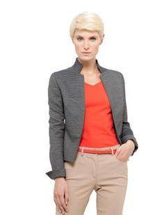 "Akris - Punto Grey Striped Jacket Spring 2013, Olivia Pope, Scandal, Episode 217, ""Snake in the Garden"""
