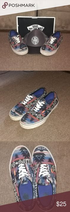 Clean Aztec Vans with hat! Aztec vans size 11 in really nice shape worn a few times only. Vans Shoes Sneakers