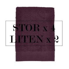 Denne pakken gir deg de myke og gode CLassic håndklene til ZONE Denmark. 4 Store og 2 Små til 15% Rabatt.