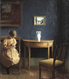Girl in an Interior, 1904 ~ Peter Vilhelm Ilsted ~ (Danish: 1861-1933)