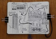 A day Out in London Illustration Sketch 'Dates' by Jitesh Patel, via Behance London Illustration, Illustration Sketches, Illustrations, Rotring Pens, London Diary, Cityscape Drawing, London Drawing, Days Out In London, Travel Sketchbook