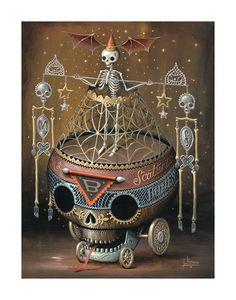Scattering Bones, Print by Jason Limon
