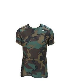 b1c31c4048b4 Nike Pro Combat Dri-Fit Max Hypercool Camo Wood Compression Mens Shirt