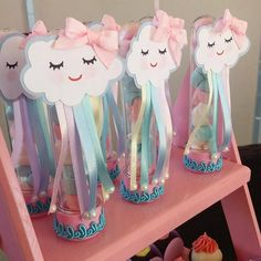 from - Muito amor envolvido 💙💖 Por Unicorn Birthday Parties, Unicorn Party, Birthday Party Themes, Girl Birthday, Diy Party Decorations, Birthday Decorations, Cloud Party, Rainbow Baby, Baby Shower Themes