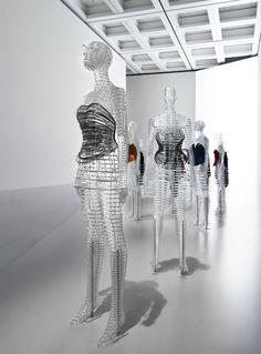 tokujin yoshioka crafts transparent body installation for issey miyake exhibition in tokyo