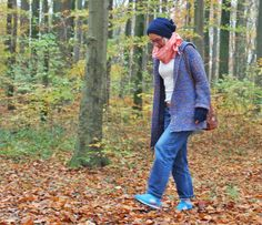 Thrifty Throwback Thursday: Muttis Strickjacke | Ninutschkanns.com #ootd #outfit #vintagestyle #secondhandstyle #thrifty #leejeans #knitwear #autumnstyle #forest #cosy #newbalance #look