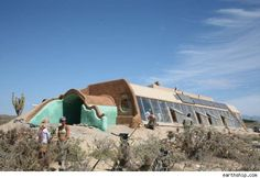 """""""A house is a shelter box that nuclear power plants and sewage systems come in and out of. [The earthship] is a machine that does all that; it's an independent cellular vessel."""" http://aol.it/JcITzL"""
