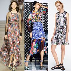 7. (Groundbreaking) Florals For Spring - Florals fit for any English rose were abundant, rendered in everything from technical fabrics to feminine gowns. Some of the best were seen at Antonio Berardi, Duro Olowu and Markus Lupfer.