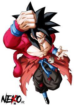 Super Saiyan 4 Xeno Goku by NekoAR