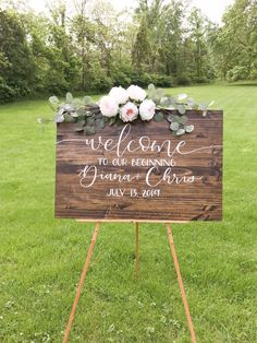 Wooden Wedding Signs, Wedding Signage, Rustic Wedding, Wedding Props, Wooden Welcome Signs, Ceremony Signs, Welcome To Our Wedding, Hand Painted Signs, Handmade Wedding