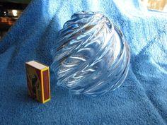 Sweden Crystal glass spiral Vase Orrefors vintage vtg scandinavian #Orrefors