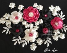 Paper flower Lux Gold backdrop/Paper flower by SydneyPaperFlowers