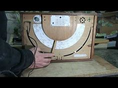 """The receiver is based on Amstrong oscillator. As AF amplifier was used amplifier from an old TV set. The design is in """"military"""" radio receiver style. Medium Waves, Radio Channels, How To Speak Spanish, Ham Radio, Old Tv, Crystal, Make It Yourself, Frame, Youtube"""