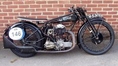 Old AJS motorcycle Ajs Motorcycles, European Motorcycles, Vintage Motorcycles, Vintage Bikes, Vintage Cars, Classic Bikes, Classic Cars, Tron Light Cycle, Old Boats