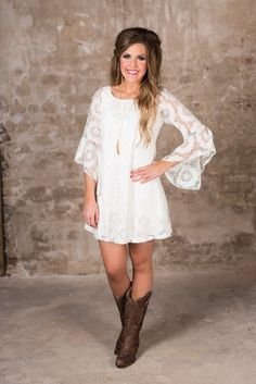 Utah Union Lace Tunic/Dress - Ivory