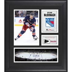 "Ryan McDonagh New York Rangers Fanatics Authentic Framed 15"" x 17"" Collage with Piece of Game-Used Puck - $79.99"