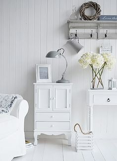 The White Lighthouse hallway furniture. Browse our range of small hall furniture, hallway console tables and hall storage to match every style of interiors, size and budget. Free UK delivery on most hall pieces Living Room Cabinets, Living Room Storage, Living Room Sets, Living Room Interior, Home Decor Bedroom, Hall Furniture, French Furniture, White Furniture, Living Room Furniture