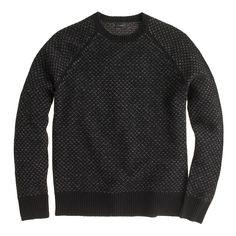 J.Crew Lambswool Bird's-Eye Sweater