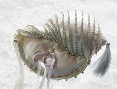 DIY Beach Wedding Sea Shell Ring Bearer Wedding Ring Holder Pillow