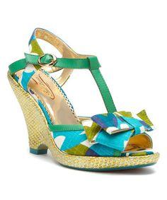 Green & Blue Behave Yourself Sandal #zulily #zulilyfinds