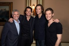 "CBS/The CW/Showtime 2012 Winter TCA at The Langham Hotel in Pasadena, CA The ""One Tree Hill"" Final Season Cocktail ReceptionPictured (L-R): Mark Pedowitz (President, The CW Television Network), Kris Polaha (""Ringer""), Jared Padalecki (""Supernatural""), and Joseph Morgan (""The Vampire Diaries"").Photo credit: Joe Magnani/The CW © 2012 The CW Network, LLC. All rights reserved."