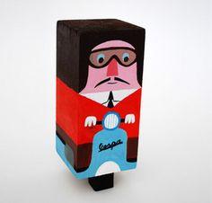 100 Wood Block Figures by MyOwlBarn, via Flickr