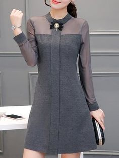 Buy Casual Dress For Women at JustFashionNow. Buy Casual Dress For Women at JustFashionNow. Online Shopping JustFashionNow Women Casual Dress Stand Collar A-line Daily Dress Long Sleeve Casual Cotton Paneled Dress, The [. Summer Dresses For Women, Trendy Dresses, Fashion Dresses, Dresses For Work, Cheap Dresses, Girls Dresses, Cheap Clothes, Fashion Clothes, Dress Stand