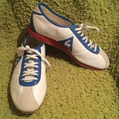 super popular 8d01a 17388 NWOT Awesome Le coq sportif Sneakers 9.5 Mens 8 Vintage  White, red,    blue! Men s 8 womens 9.5 brand new never worn in excellent condition!
