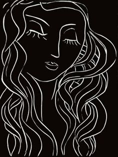 "Henri Matisse - ""Sleep, Sleeper with Long Eyelashes"" - Original linocut on Arches vellum - 1944"