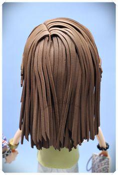 Peinado para fofucha largo y liso  www.xeitosas.com
