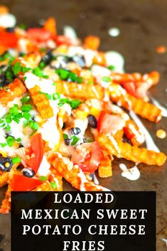 Whenever I have a lone bag of french fries in my freezer, or a sweet potato just begging to become snack food, I bake them up and make Loaded Mexican Sweet Potato Cheese Fries. Like nachos; only better! Frozen Sweet Potato Fries, Mexican Sweet Potatoes, French Fries Recipe, Cheese Fries, Stuffed Jalapeno Peppers, Nachos, Eat Healthy, Freezer, Dinner Ideas