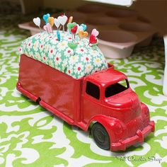 Vintage Toy Truck Pin Cushion