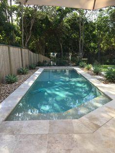 Backyard Pools - Banora Pools - Pool Design Builder Gold Coast Small Inground Pool, Small Swimming Pools, Swimming Pools Backyard, Swimming Pool Designs, Lap Pools, Indoor Pools, Pool Decks, Pools Inground, Backyard Pool Landscaping