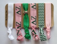 DELTA ZETA ~ Sorority Gifts ~ Pink Green and Turtles by Shelley on Etsy