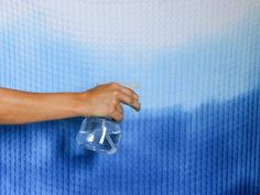 How to Make an Ombre Shower Curtain