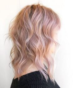 Light rose gold hair color