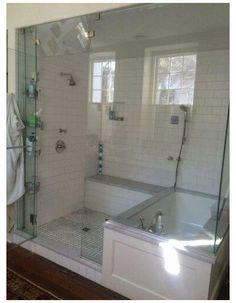 Bathroom Renovation, Bathroom Remodel Master, Tub Shower Combo, Shower Remodel, House Bathroom, Bathroom Remodel Shower, Diy Bathroom Remodel, Bathroom Remodel Designs, Bathroom Renovations