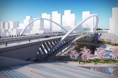 Galeria de Santiago Calatrava propõe 3 novas pontes em Huashan - 3