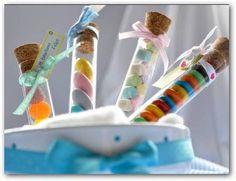 Souvenirs con tubos de confites